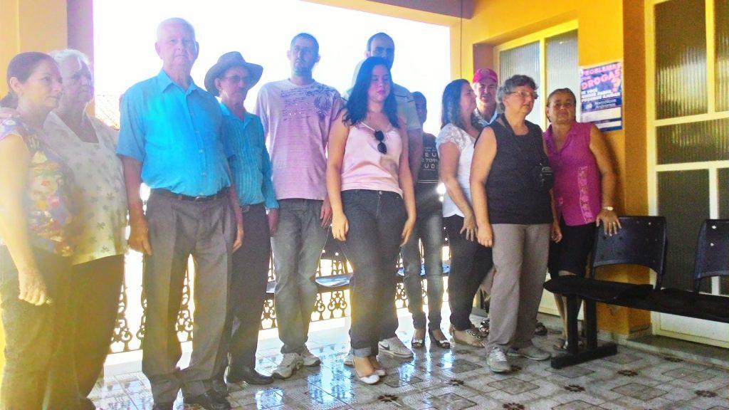 Familiares da vítima, sr. Altino, estiveram na delegacia onde confrontaram o autor do crime.