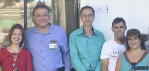 A Secretária Municipal de Assistência Social Cali Silva, o gerente agrícola da Biosev, Fernando Bezerra, o gerente Lindomar Santos, o Secretário de Esportes Gilfar Alves e a diretora da AFA, Marcélia Rezende.
