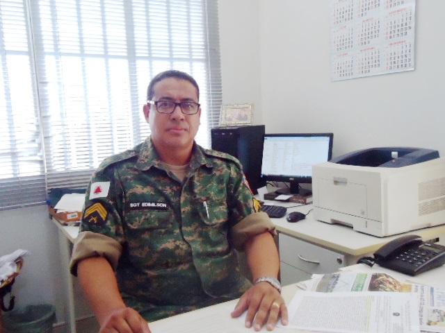 Sargento Edmilson, da Policia Ambiental